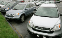 Автомобили Honda CRV. Архивное фото