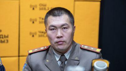 Өрт өчүрүү жана алдын алуу башкармалыгынын башчысынын орун басары майор Азиз Бейшекеев