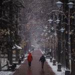 Кыш келе жатканы туурасында Бишкекке сүйүнчүлөдү. Эркиндик проспектиси.