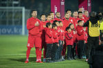 Кыргызстандын футбол боюнча курама командасы. Архивдик сүрөт