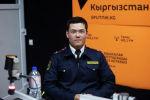 Туристтик милициянын тутумундагы өзгөртүүлөр, ошондой эле аткарылган иштердин жыйынтыгы туурасында Бишкек ШИИБдин туристтик милициясынын командири Нурхат Нурбеков