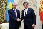 Казакстандын президенти Касым-Жомарт Токаев жана Кыргызстандын президенти Сооронбай Жээнбеков