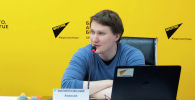 Руководитель центра интернет-технологий МИА Россия сегодня Алексей Филипповский в мультимедийном пресс-центре Sputnik Кыргызстан