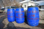 В Бишкеке на остановках появились синие бочки и контейнеры с песчано-соляной смесью для борьбы с гололедом