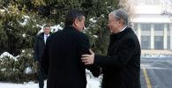Казакстандын президенти Касым-Жомарт Токаев жана Кыргызстандын өлкө башчысы Сооронбай Жээнбеков