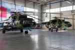 Торжественная церемония приема-передачи двух вертолетов МИ-8МТ на территории авиационно-технической эксплуатационной части Сил воздушной обороны Вооруженных сил КР в Канте.