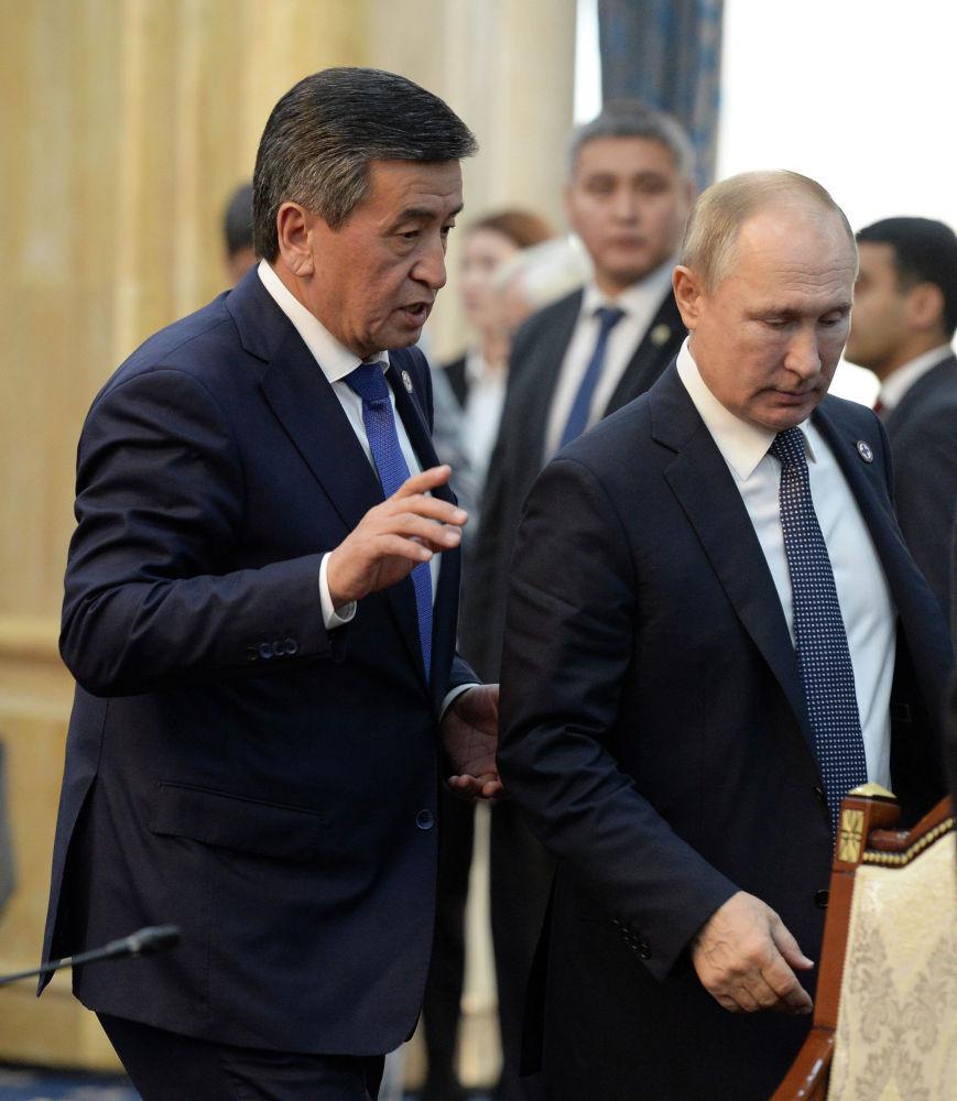Президент Кыргызстана Сооронбай Жээнбеков отметил усилия России и ее лидера Владимира Путина в обеспечении безопасности в Евразии