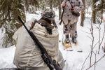 Охотники во время охоты. Архивное фото