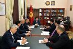 Премьер-министр Кыргызской Республики Мухаммедкалый Абылгазиев встретился с президентом Centerra Gold Inc. Скоттом Перри.