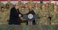 Президент США Дональд Трамп во время незапланированного визита в Афганистан заявил, что радикальное движение Талибан хочет заключить мирное соглашение с его страной.