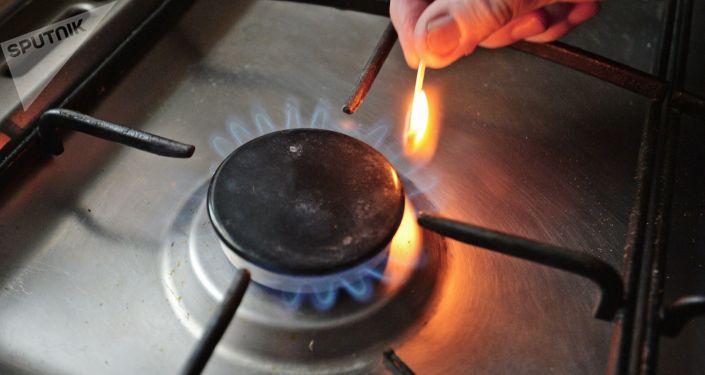 Горелка газовой плиты. Архивное фото