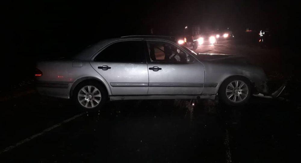 Автомобиль на котором начальник Сокулукского РОВД попал в ДТП
