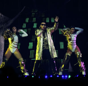Daddy Yankee аттуу ырчы. Архивдик сүрөт