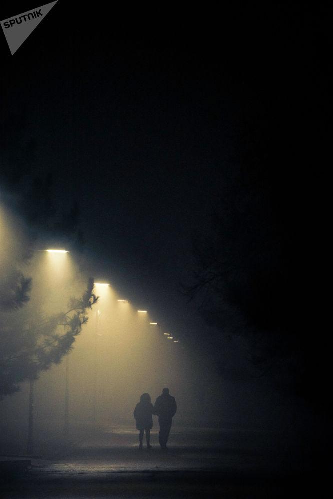 18.30дар чамасында башталган туман үч саатка жакын тараган жок