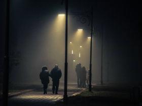 7 декабря вечером туман окутал Бишкек