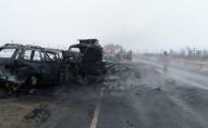 На 76-м километре трассы Оренбург — Акбулак в Оренбургской области. 8 декабря 2019 года