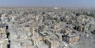 Поврежденные здания в Ракке, Сирия. Архивное фото