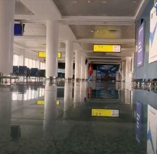 Пресс-служба Международного аэропорта Манас опубликовала видео обновленной стерильной зоны воздушной гавани.