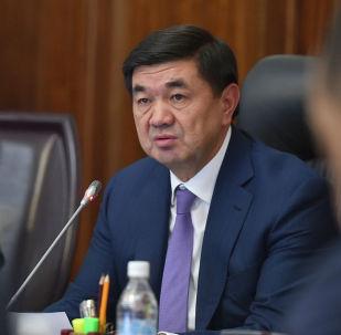 Премьер-министр Кыргызской Республики Мухаммедкалый Абылгазиев на Совете по развитию государственно-частного партнерства.