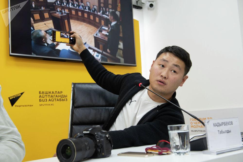 Фотокорреспондент Sputnik Кыргызстан Табылды Кадырбеков
