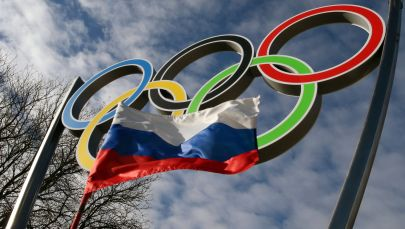 Олимпийские кольца установлены в Калининграде.