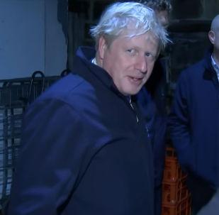 Премьер-министр Великобритании Борис Джонсон спрятался в холодильной камере, не желая отвечать на вопросы журналистов.