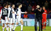 Звезда футбола Криштиану Роналду после матча Лиги чемпионов, где Ювентус встречался с Байером.