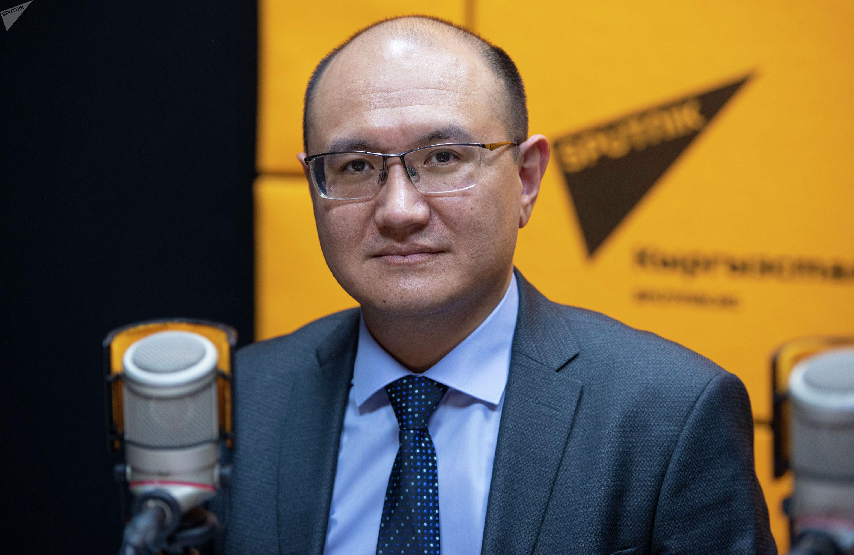 Министр Юстиции КР Марат Жаманкулов на радиостудии Sputnik Кыргызстан