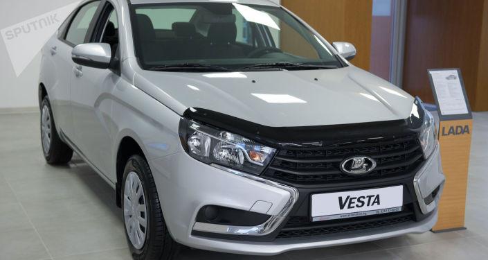 LADA Vesta, Sedan, исполнение Comfort. Объем двигателя — 1,6 л; цена — 795 000 сомов ($ 11 382)
