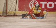 Кыргызстандын хоккейчиси. Архивдик сүрөт