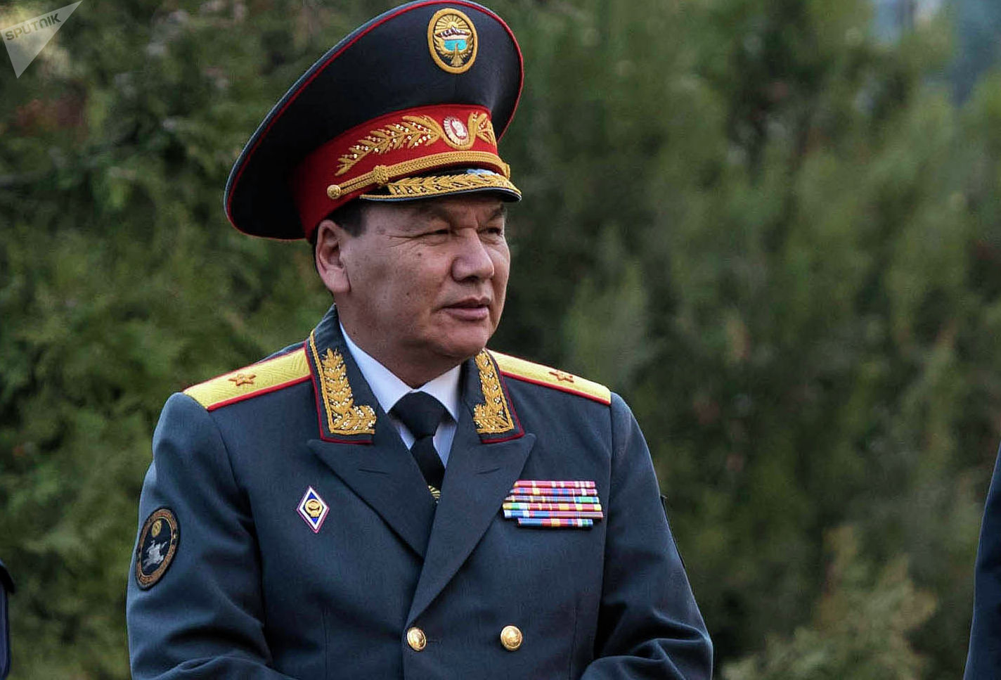 Министр МВД КР Кашкар Джунушалиев на презентации пилотного проекта Патрульной службы милиции по Бишкеку