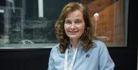 Кандидат педагогических наук Татьяна Кудоярова на радиостудии Sputnik Кыргызстан