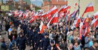 Польские националисты проводят в Варшаве Марш суверенности в знак протеста против присутствия Польши в Европейском союзе. Архивное фото