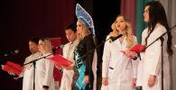 Студенты выступают на 25-летии медицинского факультета КРСУ