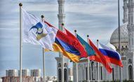 Флаги стран участниц Евразийского экономического союза (ЕАЭС). Архивное фото