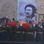 Шамшиев Бишкектеги Ала-Арча көрүстөнүнө коюлду