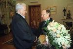 Встреча исполняющего обязанности Президента РФ Владимира Путина с первым Президентом России Борисом Николаевичем Ельциным. 27 марта 2000 года