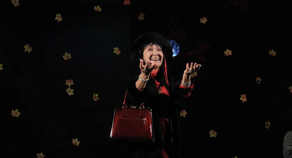 Бүгүн КРдин эмгек сиңирген артисти, белгилүү театр жана кино актрисасы Жамиля Сыдыкбаева. Архивдик сүрөт
