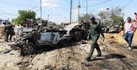 Сомалинин Могадишо шаарында мина коюлган автоунаа жарылды