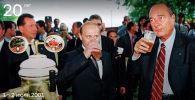 Фотография Владимира Путина и Жака Ширака, опубликованная на сайте 20.kremlin.ru