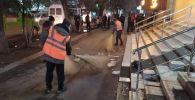 Бишкектин борбордук Ала-Тоо аянтынан таштанды чыгаруу