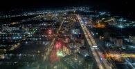Новогодний салют в Бишкеке снятый с дрона. Архивное фото