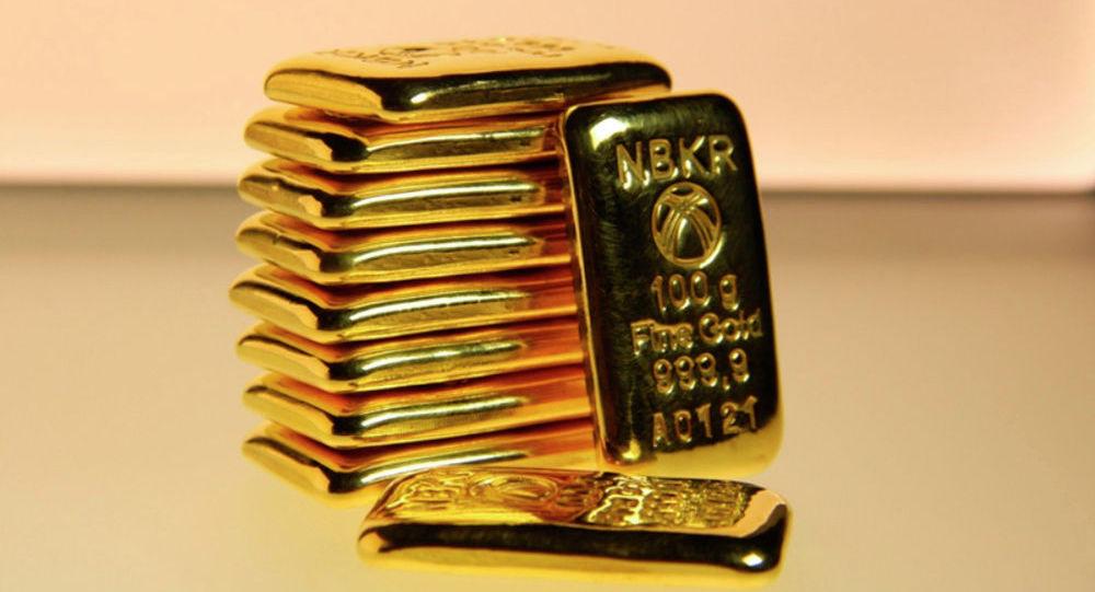 Золотые слитки НБКР. Архивное фото
