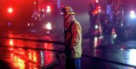 Сотрудник пожарной службы США. Архивное фото