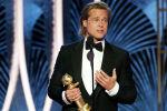 Голливудский актер Брэд Питт получил награду за лучшую мужскую роль второго плана в фильме Однажды в… Голливуде на премии Золотой глобус в Калифорнии