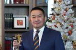 Глава государства Монголии Халтмаагийн Баттулга во время новогоднего обращения. Архивное фото
