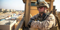 Военнослужащий армии США в комплексе посольства США в Багдаде. Ирак. Архивное фото