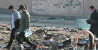 Иранда кулаган украиналык учак. Архивдик сүрөт
