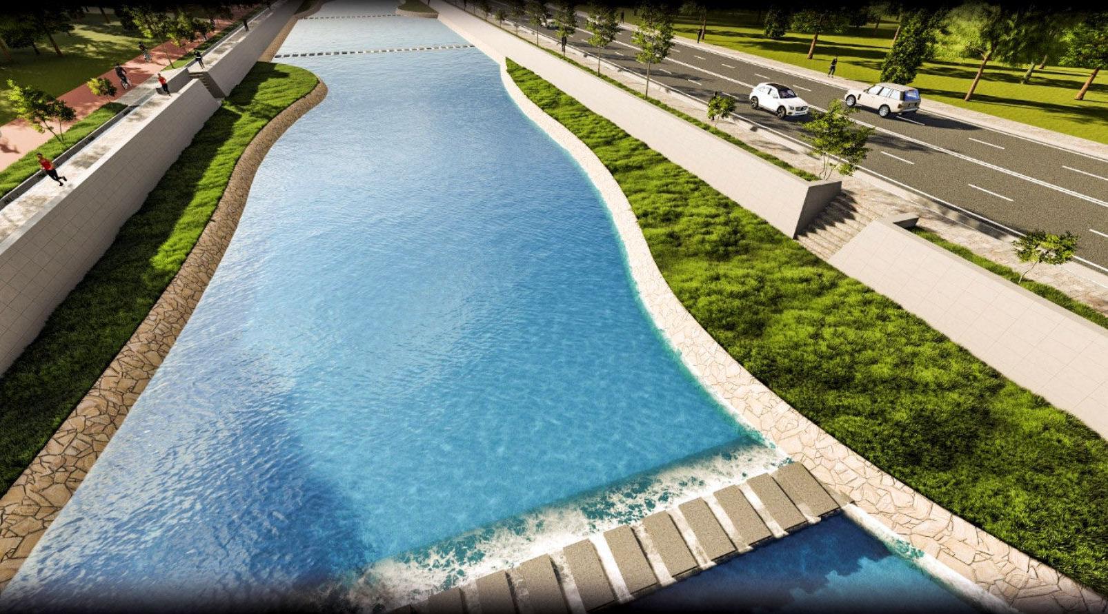 Эскиз по озеленению и улучшению берега реки Ак-Буура в Оше
