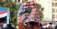 Акции протеста против воздушных ударов США в Багдаде. Архивное фото